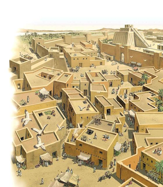 """The Streets of Ur, the world's first city, in Ancient Mesopotamia, the """"land between the rivers"""".  Ur is mentioned in the Book of Genesis"""