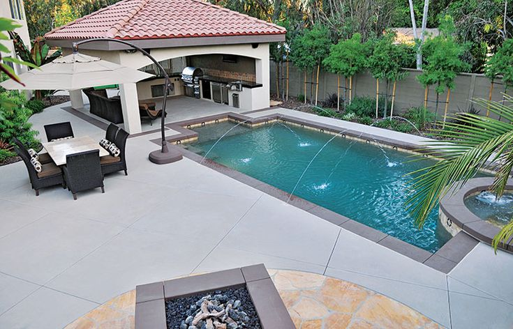 57 best images about pools on pinterest decking - Small rectangular kitchen design ideas ...