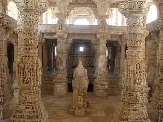 Indian Jain Temple 39 S Inner View A Great Column Craving Textures And Patterns Are Exhibited At