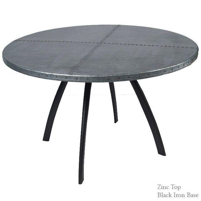 Zinc Table Top Zinctable Diningtable Diningroom Craftiron Marbletop Decoratingblogs Modernroom C Wrought Iron Dining Table Zinc Table Dining Table Bases