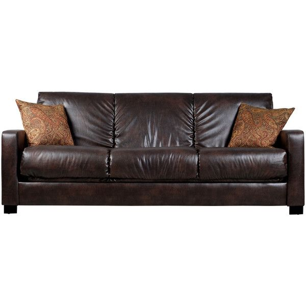 portfolio trace brown renu leather futon sofa sleeper 478