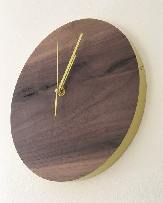 Wooden Wall Clock Modern Wall Clock Wood Wall Clock Etsy Wood Wall Clock Wall Clock Wall Clock Modern