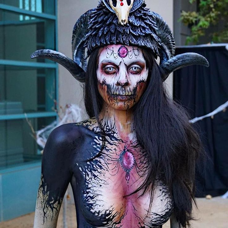 Demon halloween makeup