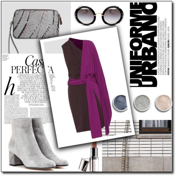 urban life by ioanaturcanu on Polyvore featuring Tom Ford, Gianvito Rossi, Miu Miu, Bobbi Brown Cosmetics, Barry M, Terre Mère and Whiteley