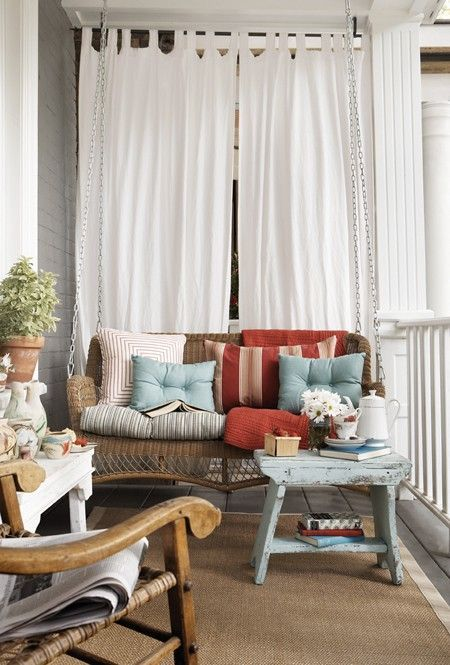 Les 25 meilleures id es concernant rideaux porche sur pinterest rideaux de patio rideaux en - Rideau campagnard ...