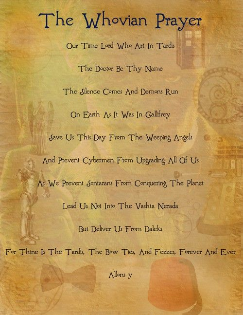 Whovian Prayer.: Whovian Prayer, Bows Ties, The Tardis, Doctorwho, Menu, Doctors Who, Weeping Angel, Dr. Who, Time Lord