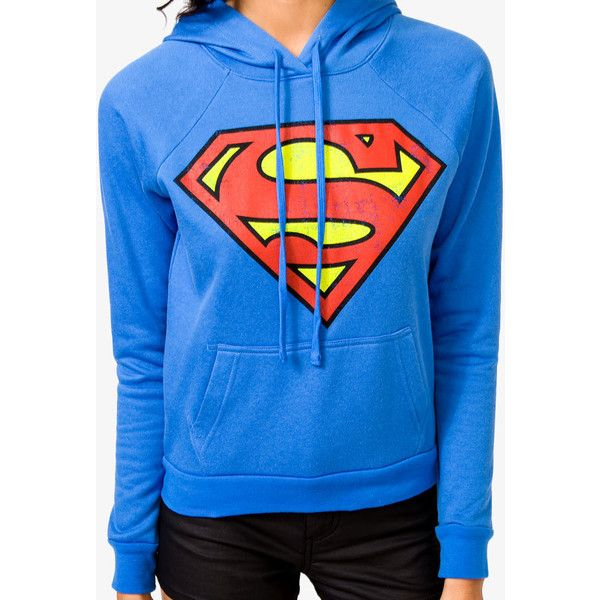FOREVER 21 Superman™ Hoodie ($23) ❤ liked on Polyvore