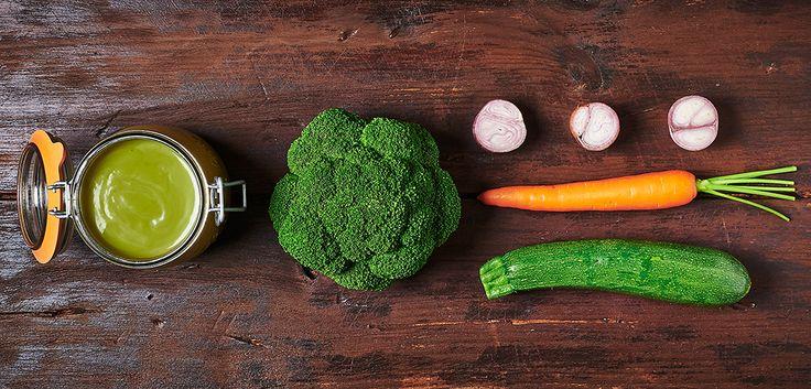 Soupe brocolis / courgettes en conserve