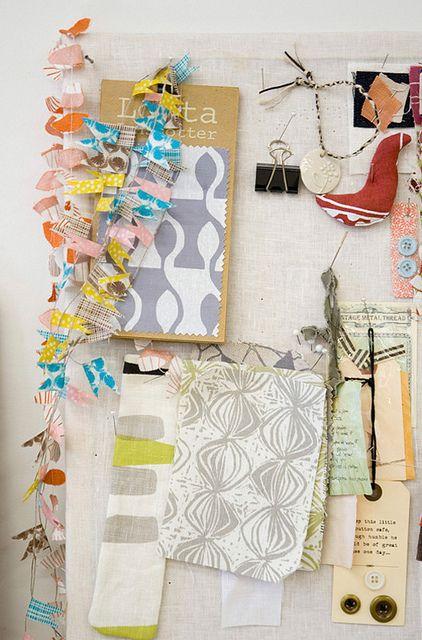 Lotta Jansdotter Studio Tour by Jillian for decor8 http://decor8blog.com/2012/10/22/shopgirl-visits-lotta-jansdotters-studio-in-brooklyn/
