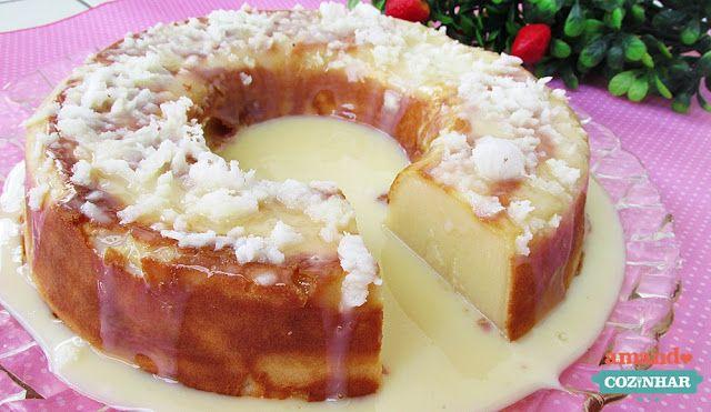 Bolo Pega Marido (leite condensado e coco)