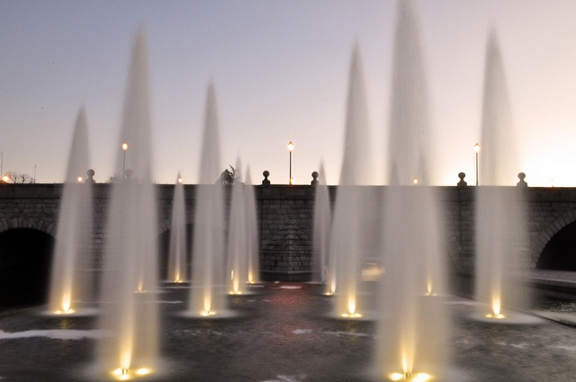 Fountain in Rio Manzanares, Madrid