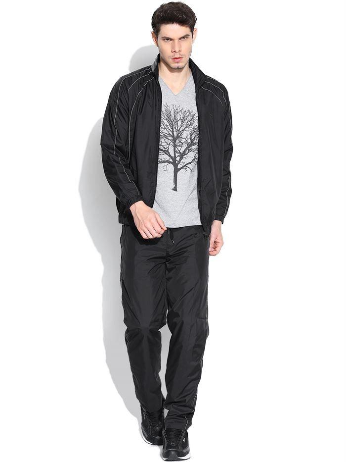Duke Solid Mens Black Track Suit by Returnfavors