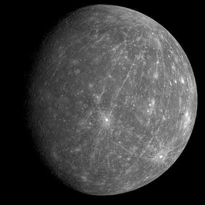 Planet Merkur, Quelle: Courtesy NASA/JPL-Caltech