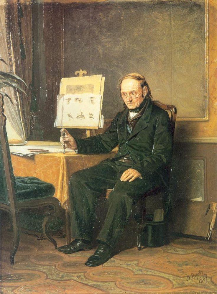 1867   Василий Перов -  Учитель рисования  (1867) - Открыть в полный размер