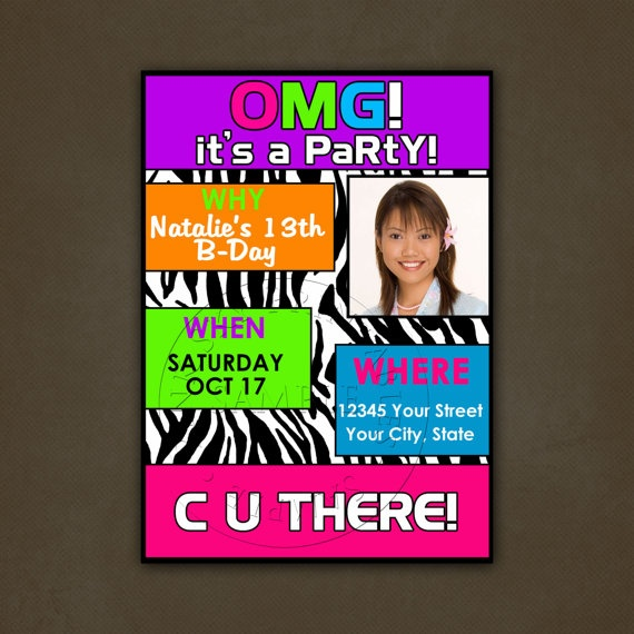 1000 images about Invitations to partys – Tween Party Invitations