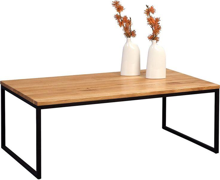 34 besten esstisch wildeiche ausziehbar auf edelstahl for Couchtisch massivholz metall