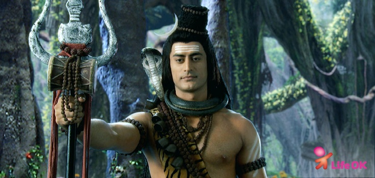 The calmness on Mahadev's face says it all! :)