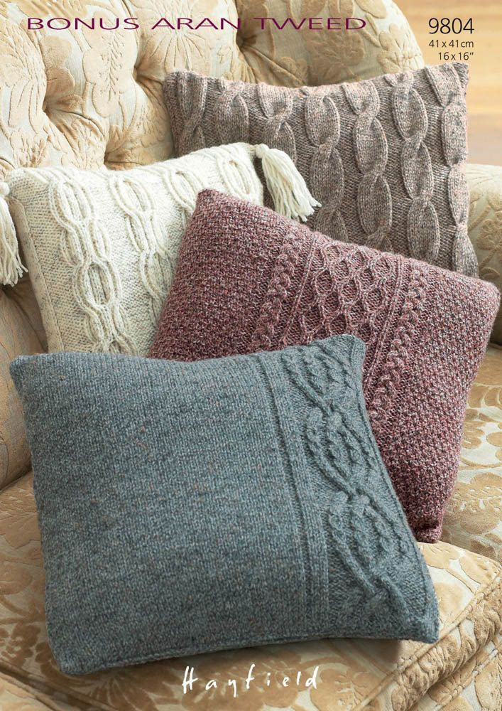 Pillow Cases in Hayfield Bonus Aran Tweed with Wool - 9804. Discover more Patterns by Hayfield at LoveKnitting. The worlds largest range of knitting supplies - we stock patterns, yarn, needles and books from all of your favorite brands.
