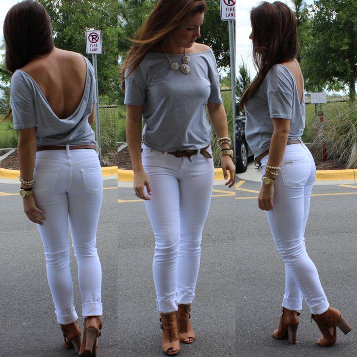 32 best White Skinny Jeans images on Pinterest
