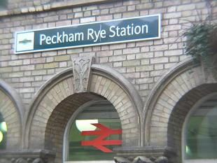 Peckham Rye Railway Station (PMR) in Peckham Rye, Greater London