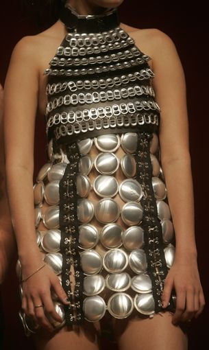recycled aluminum soda cans http://marie-renee.hubpages.com/hub/Trashion-The-New-Fashion-In-Trash