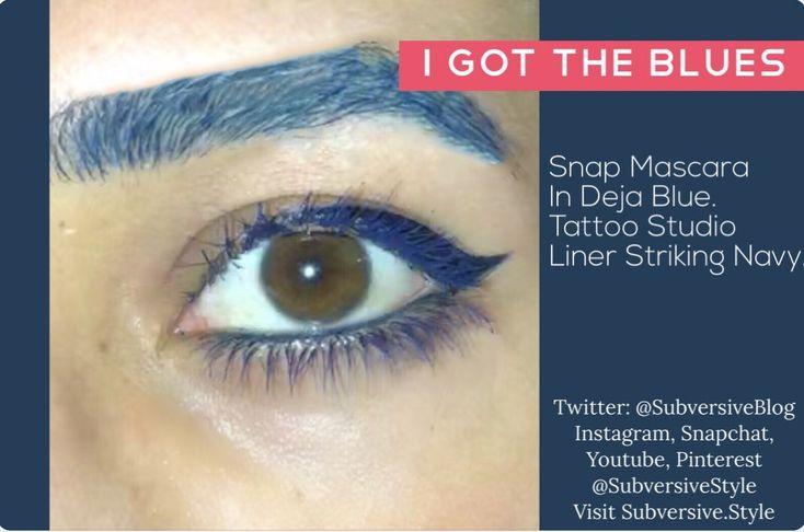 I got the blues blue cateye eyeliner with blue mascara