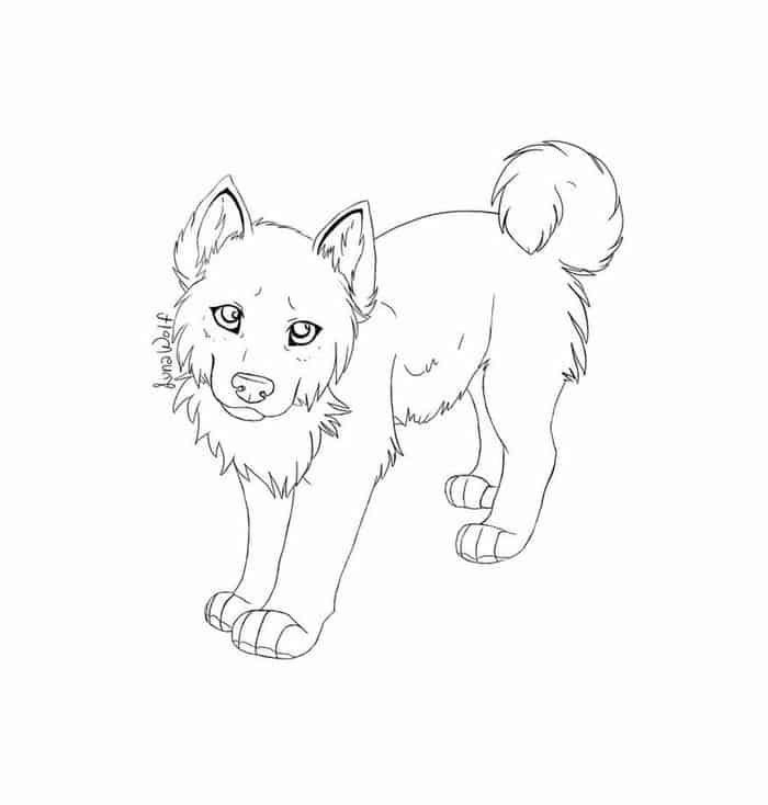 Coloring Pages Of Husky Puppies Puppy Coloring Pages Cute Husky Dog Coloring Page