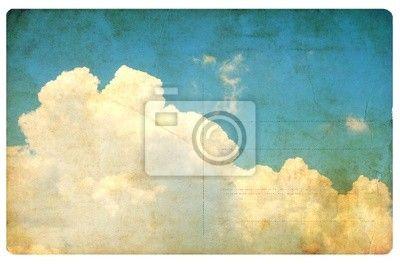 Vintage oblohu a mraky, retro pohlednice izolované na obrazech myloview. Nejlepší kvality fototapety, myloview sbírky, nálepky, obrazy, plakáty. Chcete si vyzdobit Váš domov? Pouze s myloview!