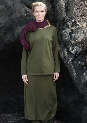 Silk/cotton jersey skirt – Skirts & dresses – GUDRUN SJÖDÉN – Webshop, mail order and boutiques | Colorful clothes and home textiles in natural materials.