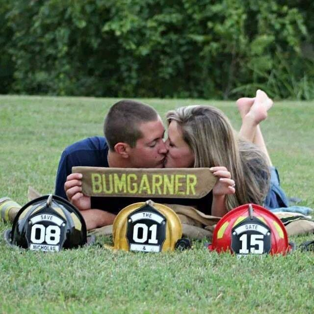Cute firefighter save the date!