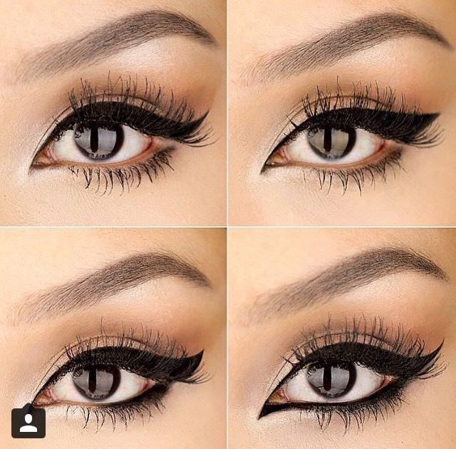 Tipos de delineados para los ojos.