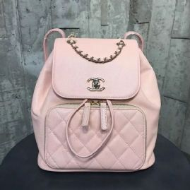 4443740fc22e Chanel Grained Calfskin Business Affinity Backpack Bag A93748 Pink ...
