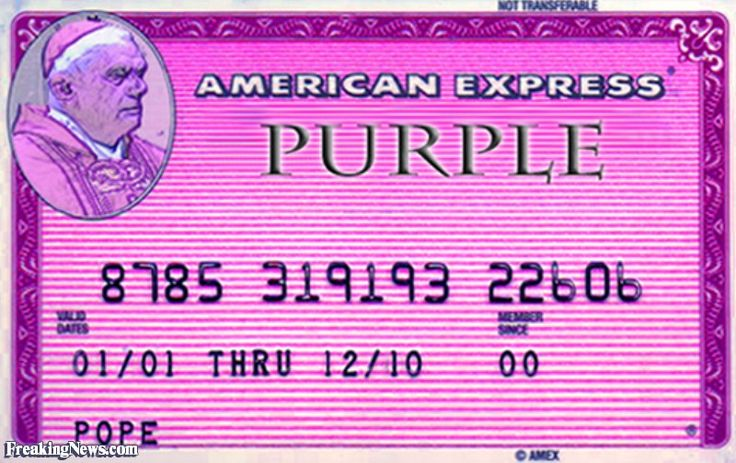 Pope's Purple American Express Card