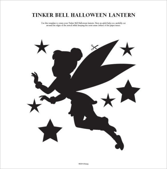 99 best fairy arts and crafts images on pinterest for Tinkerbell pumpkin template free