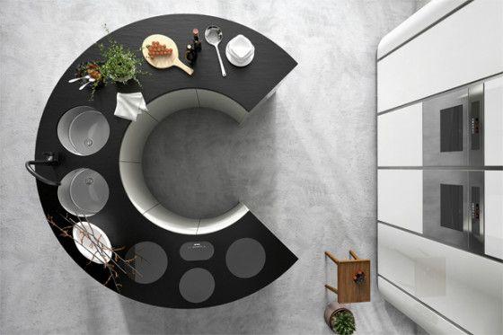 Isla de cocina circular