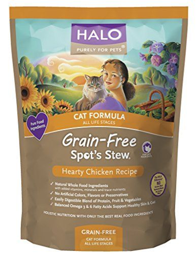 Halo Spot's Stew Grain Free Hearty Chicken Recipe for Cats, 11.5-Pound