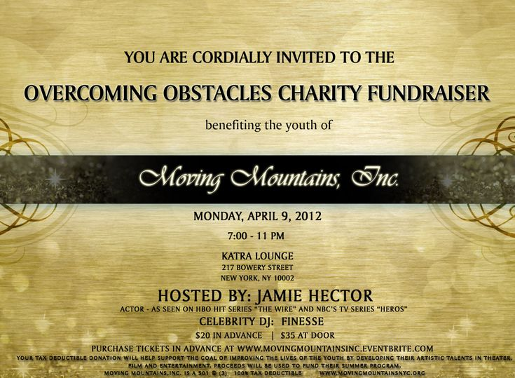 27 best Charity Fundraiser images on Pinterest Charity - fundraiser invitation