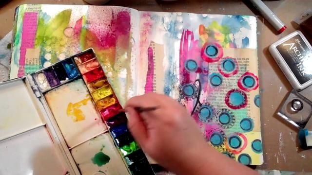 Art Journaling Fast Forward featuring matching stamps & stencils