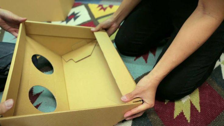 アスクル ダンボールゴミ箱 - YouTube