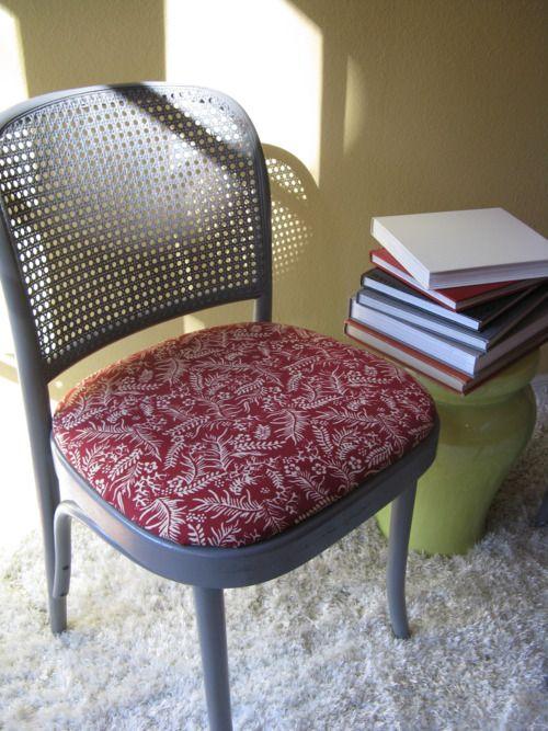 Vintage Batik Fabric On Upcycled Thonet Chair