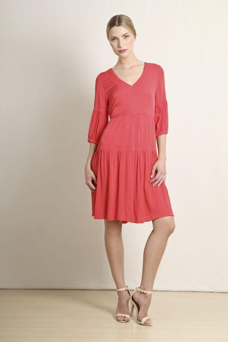 Yalma dress in coral  GB085-CRL  R699.00  www.georgieb.com