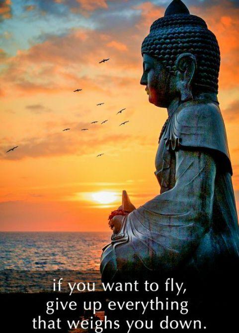 Eğer uçmak istiyorsan, seni aşağı çeken herşeyi bırak.