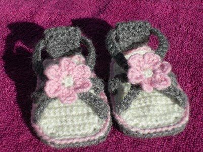 Free Crochet Baby sandals Patterns | Crocheted Baby Sandals