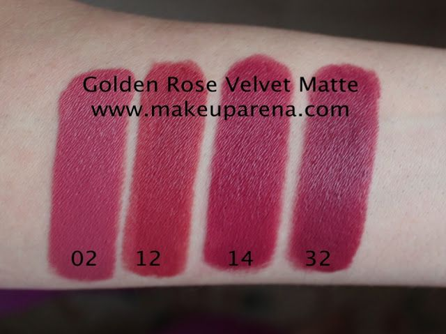 Golden Rose Velvet Matte 02, 12, 14, 32