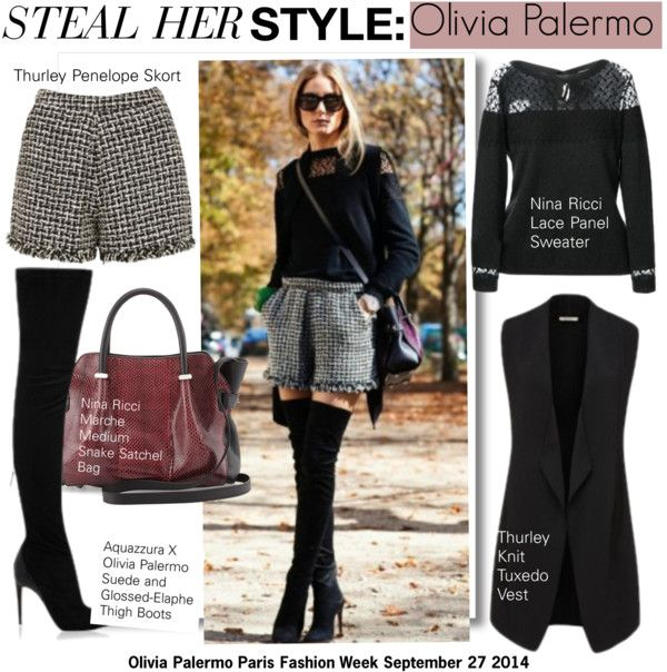 """""""Steal Her Style-Olivia Palermo-PFW"""" by kusja ❤ liked on Polyvore"""