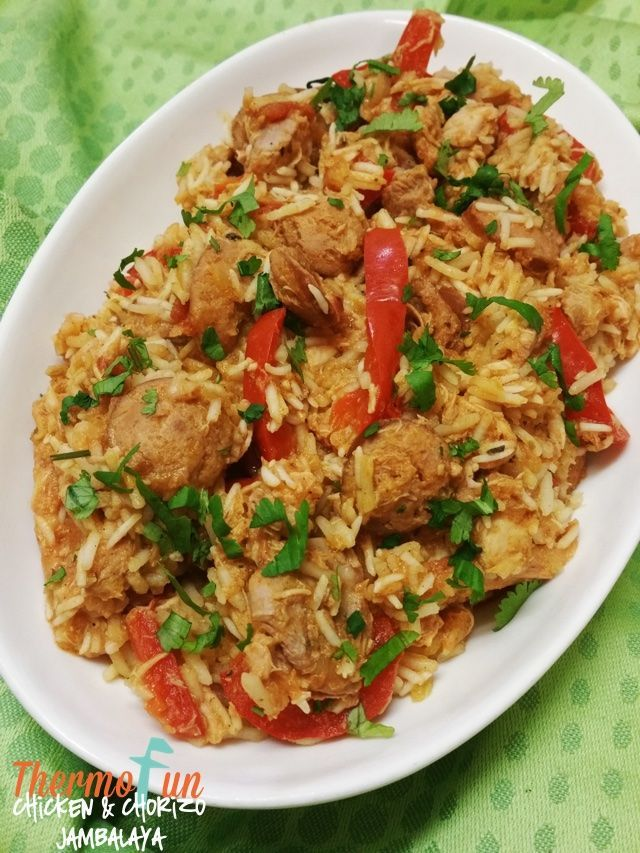 If you've had jambalaya before then you need to try this recipe - if your new to jambalaya then you need to try this thermomix chicken & chorizo jambalaya