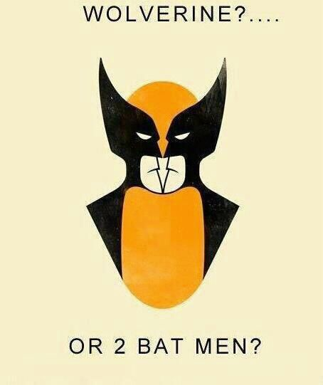 Wolverine or Batman? -- i can't stop going back and forth between the two images! lol