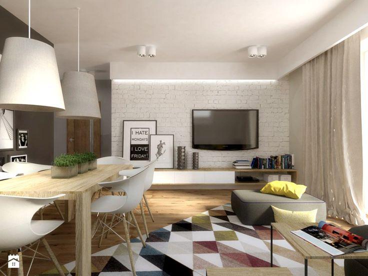Mieszkanie na poddaszu - Mały salon z jadalnią, styl nowoczesny - zdjęcie od SO INTERIORS Architektura Wnętrz
