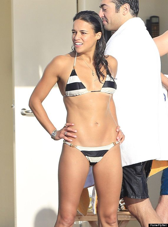 Michelle Rodriguez and I are nearly the same age and height. Something to think about. #noexcuses