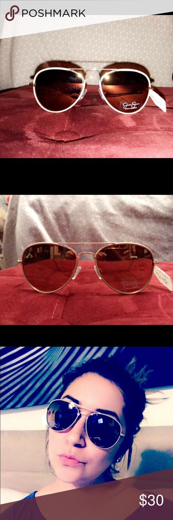 Jessica Simpson sun glasses Tags still attached they are in great condition very cute spring is just around the corner ! Perfect for the sun Jessica Simpson Accessories Glasses